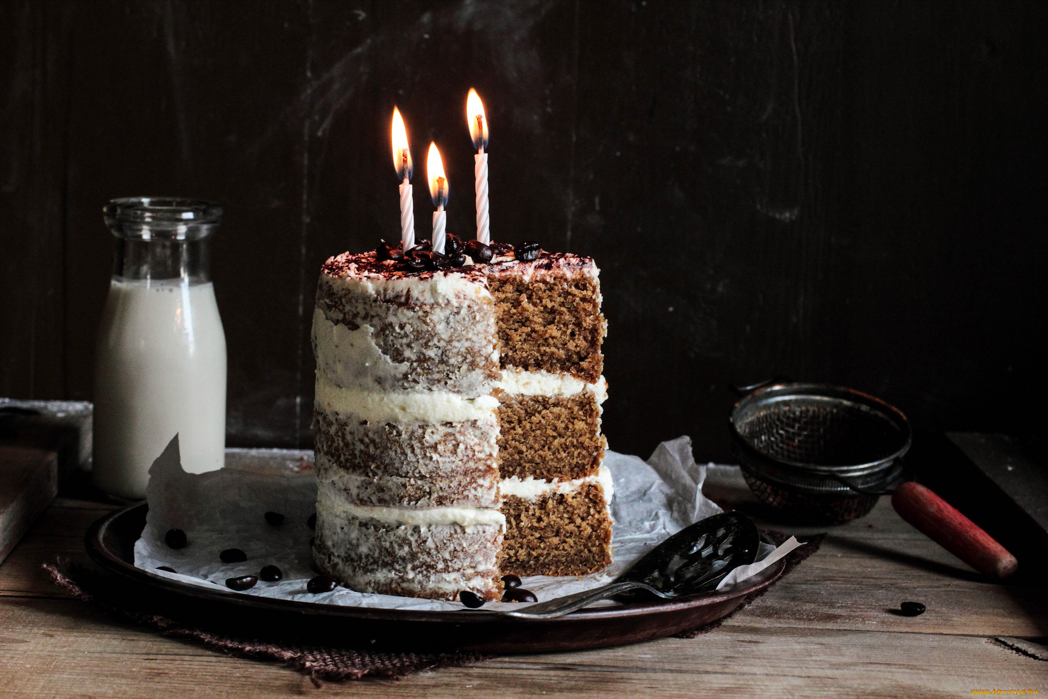 желтую торт и три свечки фото них можно